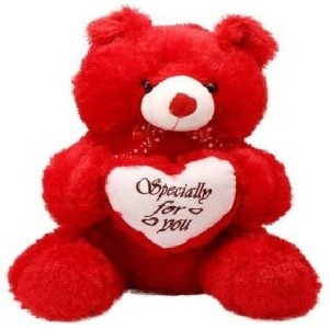 Nihan Enterprises Soft & Cute Red Color Teddy Bear Hreat Specially For you - 45 CM - 45 cm (Red)