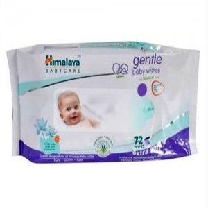 HIMALAYA Gentle Baby Wipes(Indian Lotus)-72 Wipes