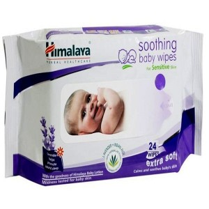 HIMALAYA Soothing baby wipes(Lavender) - 24 Wipes
