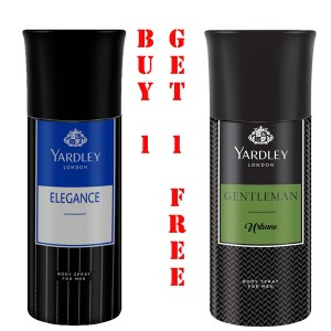 YARDLEY LONDON GENTLEMAN URBANE BODY SPRAY+YARDLEY ELEGANCE(BUY 1 GET 1 FREE)