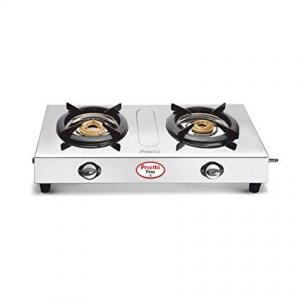 Preethi Fino 2 Burner Stainless Steel Manual Gas Stove (2 Burners)