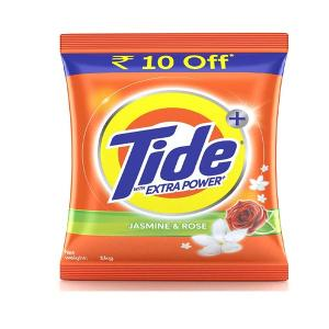 Tide Plus with Extra Power Jasmine and Rose Detergent Washing Powder - 1kg Pack (Rupees 10 off)