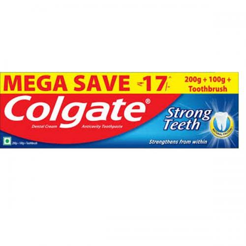 COLGATE STRONG TEETH 300G+1N TOOTH BRUSH MEGA SAVE RS-17